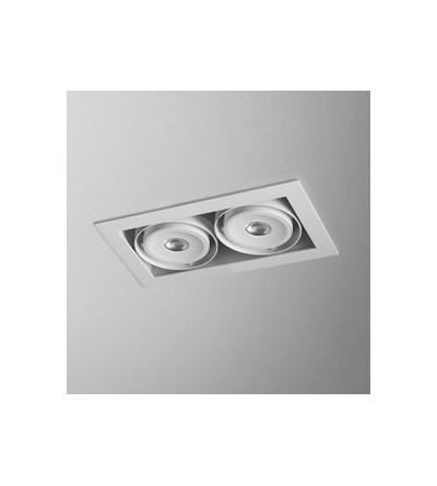 AQForm Lampa wpuszczana SQUARES 70x2 QRLED lens L930 34° biały