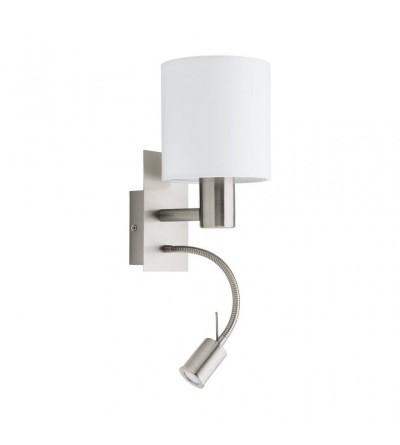 Eglo kinkiet PASTERI 1xE27/40W+LED/3,5W biały