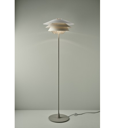 B.LUX Lampa podłogowa OVERLAY F GREY GLASS BEIGE/BEIGE/BEIGE