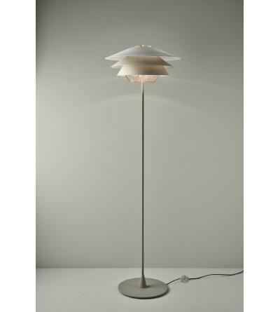 B.LUX Lampa podłogowa OVERLAY F COGNAC GLASS BEIGE/COPPER/BEIGE