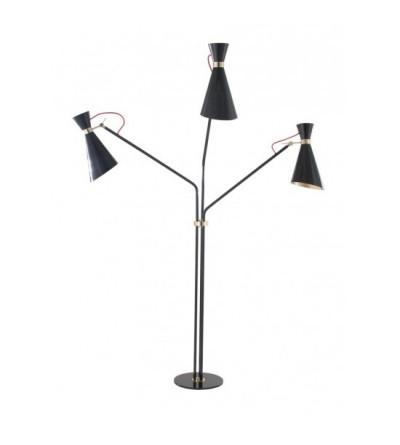 DelightFull Lampa podłogowa SIMONE mosiądz aluminium tkanina