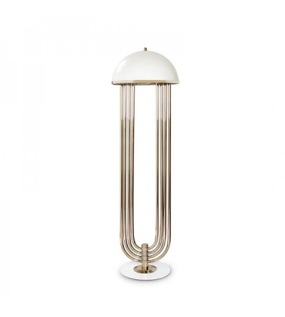DelightFull Lampa podłogowa TURNER mosiądz aluminium led
