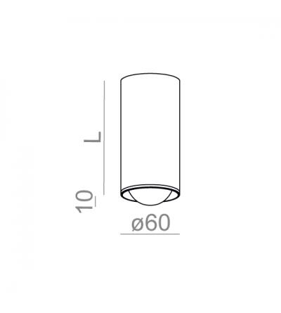 AQForm Lampa natynkowa PET 12 zoom LED 230V M930 20-41°