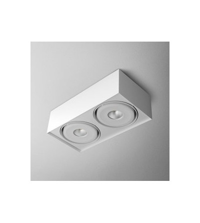 AQForm Lampa natynkowa SQUARES mini 111x2 QRLED L930 38° biały