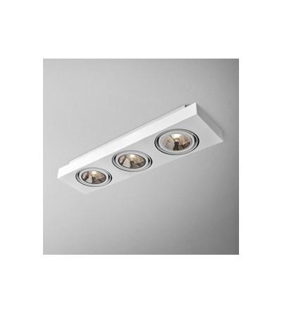 AQForm Lampa natynkowa SLEEK distance 111x3 Phase-Control biały