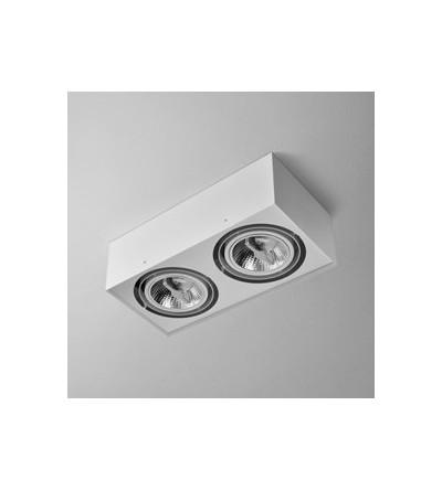 AQForm Lampa natynkowa SQUARES 111x2 Phase-Control biały mat