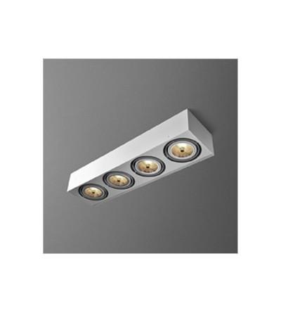 AQForm Lampa natynkowa SQUARES 111x4 Phase-Control biały mat