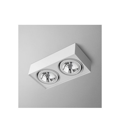 AQForm Lampa natynkowa SQUARES mini 111x2 Phase-Control biały